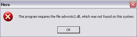 Fix Advrcntr.dll Error
