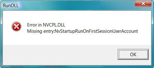 Fix Nvcpl.dll Error